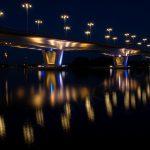 Kuokkalan silta yöllä, Jyväskylä
